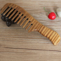 Wooden Natural Sandalwood Handmade Wide Tooth Comb Massage Comb Hair Care 1PC JR