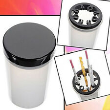 Nail Brush Acetone Cup Holder and Cleanser Bottle with Black Lid