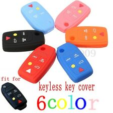 5 Buttons Silicone Skin Cover Flip Key Shell Case For VOLVO C70 S40 S60 S80 XC90