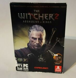 The Witcher 2: Assassins Of Kings PC Game w/ Manual,Coin,Map,Insert, Disc are NM