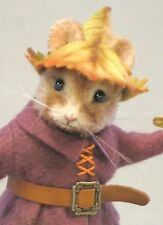"""3"""" R. John Wright Doll """"Tom Thumb"""" Mouse Collectible USA Made"""