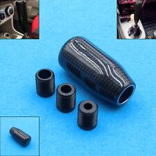 HQ Black Carbon Fiber Ball Gear Shift Shifter Knob For Manual Transmission Stick