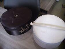Trousse ou vanity 1 blanc rond et 1 noir ovale - CHRISTIAN DIOR - CD