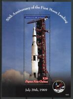 Papau New Guinea PNG Stamps 2019 MNH Apollo 11 Moon Landing Space 1v S/S
