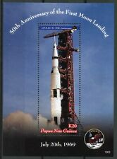 More details for papua new guinea png space stamps 2019 mnh apollo 11 moon landing 1v s/s