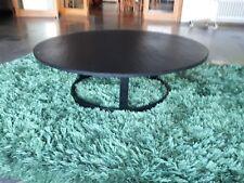 runder Designer Couchtisch Schiefertisch  Schieferplatte schwarz 110 cm