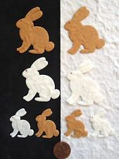 16 Bunnies Easter bunny Rabbit rabbits Diecut handmade mulberry paper Cards