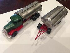 ULRICH 1/87  TANDEM  KENWORTH NEEDLE NOSE WITH  DOUBLE TANKER TRAILERS ALL METAL