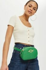 Ex Topshop Queenie Quilted Green BELT BAG .  RRP £22