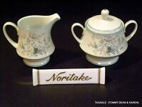 Nice NORITAKE china PARADISE  pattern ~ Creamer & Lidded Sugar Bowl Set