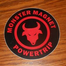 Monster Magnet Power Trip Sticker Circle 1998 Promo 5""