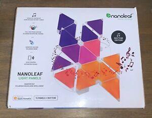 Nanoleaf Light Panels Rhythm Smarter Kit Multi-Color 15 Panels + Rhythm NEW