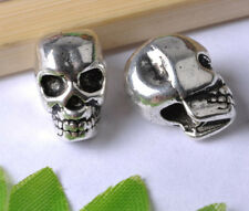 10pcs tibetan silver skull Spacer Beads SH810