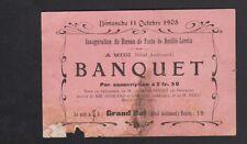 BOUILLE-LORETZ (79) MENU d'INAUGURATION du BUREAU DE POSTE / HOTEL AUDOUARD 1908