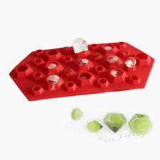 3D Diamonds Gem Cool Ice Cube Candy Epoxy Plaste Silicone Mold W/ DEFECT