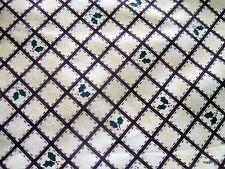 Kathi Walters Checkered Past Christmas Holly cotton fabric lattice half yard cut