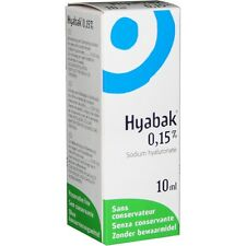 Hyabak 10ml Eye Drops for dry eyes Spectrum Thea Preservative free