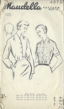 1950s Vintage Sewing Pattern B44 BLOUSE (R939)