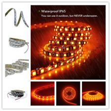 5m Orange Light LED Strip 5050 3528 300 600 SMD Flex Rope Tape 12V IP20 IP65