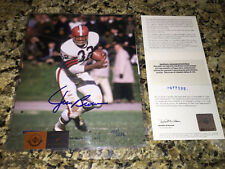 Jim Brown Signed Autographed Browns 8x10  Photo UDA Upper Deck LE XXX/232