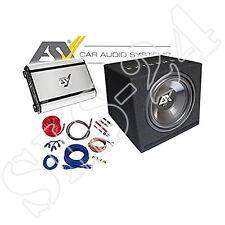 ESX Horizon HXP4 Subwoofer Kiste + 4-Kanal Endstufe inkl. Kabelkit Komplettset