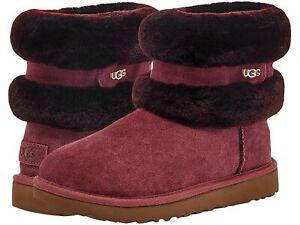 UGG Boots w Fluff Mini Belted, Size 7US, 5UK