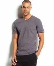 Alfani Mens Short Sleeve V-Neck T-shit Grey Teal XL