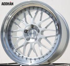 AODHAN AH02 19x11 +22 5x114.3 Silver Genesis Mustang 350z G35 Q50 RX8 Supra G37