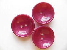 1930s Vintage Med Art Deco Bowl-shape 'Shocking Pink' Coat Blazer Buttons-29mm