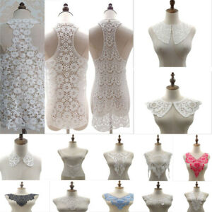 White Lace collar, Drama Vintage Period Guipure Soft White Sewn On Dressmaking