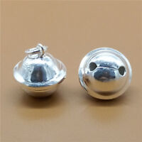 Sterling Silver Pet Dog Cat Collar Bell Charms 925 Silver for Bracelet Necklace