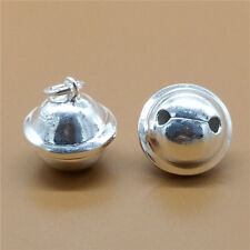 Sterling Silver Pet Dog Cat Collar Bell Charms for Bracelet Necklace