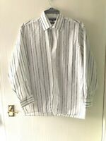 "Shirt Top Size 16.5"" Collar. Stone. Striped.Men's Shirt. By George. Long Sleeved"