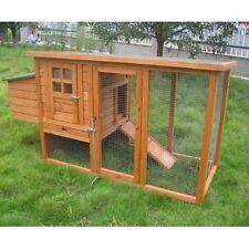 Chicken Coop Hen House Ark Poultry Rabbit Hutch Run Ducks Birds Nest Box New