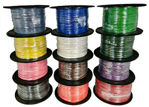 Single Core 12v 24v Multi Strand Cable Thin Wall Wire All AMP Ratings 12 Colours