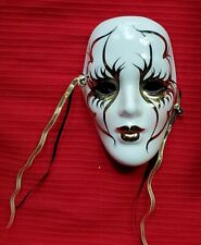 Vintage Mardi Gras Porcelain Ceramic Painted Wall Hanging Face Mask 5""