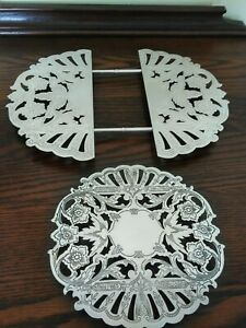 VTG - Wallace Silver Plate Set of 2 Trivets #'s 7321 & 7332