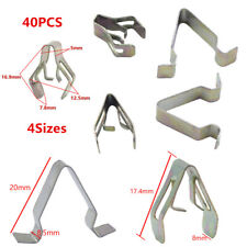 40Pcs Metal Rivets Car Interior Dashboard Panel Trim Clips Retainer 4Sizes fixed