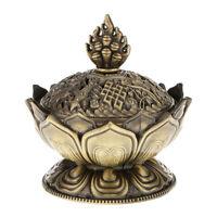 1X(Lotus Incense Smoke Cone Aroma Burner Holder Stove Backflow Censer Decor- I23