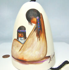 Signed DeGrazia NAVAJO MOTHER & Child LG CHIME BELL Baby Papoose Raised Art USA!