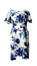 JACQUES VERT * NEW TAGS * SIZE 22 UK LADIES BLUE FLORAL OCCASION DRESS EU 48