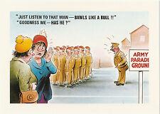 "9""x6.5"" JUST LISTEN TO THAT MAN Arnold Taylor Postcard Ltd Print Bamforth Comic"