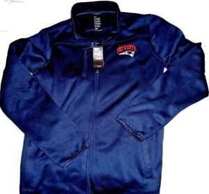 "N.E. PATRIOTS EMBROIDERED ""NFL PROD."" ZIPPER FRONT BLUE JACKET YOUTH XLARGE $60"