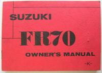 Suzuki FR70 1974 #99011-35610 -K- Motorcycle Owner Handbook