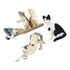 5PCS Cats Figurine Playset Realistic Animal Hand Painted Cats Animals Toy