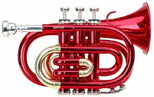 Red Brass Bell Trumpets