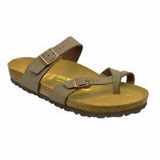 Birkenstock Mayari Brown Womens Leather Sandals Shoes 4 UK 37 EU 6 US