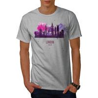 Wellcoda London View Mens T-shirt, Tourism Graphic Design Printed Tee