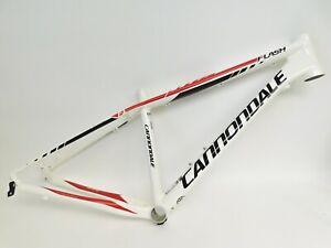 "Cannondale Flash 1 Hardtail Aluminum Mountain Bike Frame 26"" Small 18"" White New"