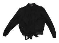 Inspire Womens Size 16 Cotton Spotted Black Bomber Jacket